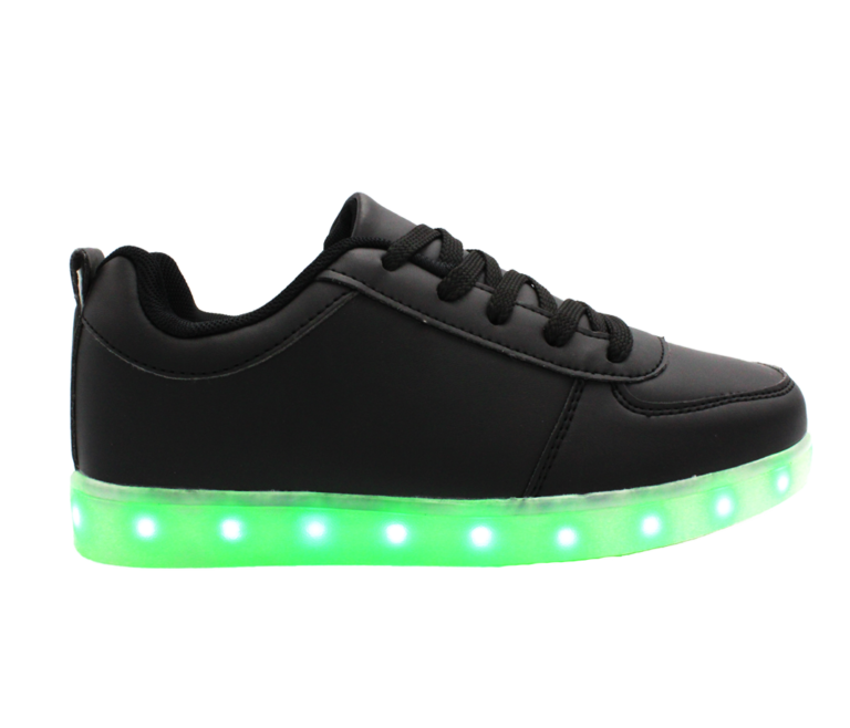 Galaxy LED Shoes Light Up USB Charging Low Top Men's Sneakers (Black)
