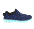 h2>Galaxy LED Shoes Light Up USB Charging Low Top Knit Men's Sneakers (Blue/Black)
