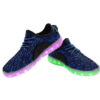 h2>Galaxy LED Shoes Light Up USB Charging Low Top Knit Men's Sneakers (Blue/Black) 3