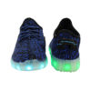 h2>Galaxy LED Shoes Light Up USB Charging Low Top Knit Men's Sneakers (Blue/Black) 4