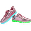 Galaxy LED Shoes Light Up USB Charging Low Top Men's Sneakers (Pink Glossy) 3