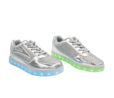 Galaxy LED Shoes Light Up USB Charging Low Top Women's Sneakers (Silver Glossy Fusion) 2