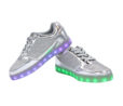 Galaxy LED Shoes Light Up USB Charging Low Top Women's Sneakers (Silver Glossy Fusion) 3