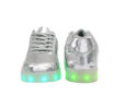 Galaxy LED Shoes Light Up USB Charging Low Top Women's Sneakers (Silver Glossy Fusion) 4