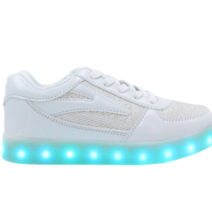 Galaxy LED Shoes Light Up USB Charging Low Top Women's Sneakers (Gold White Fusion)