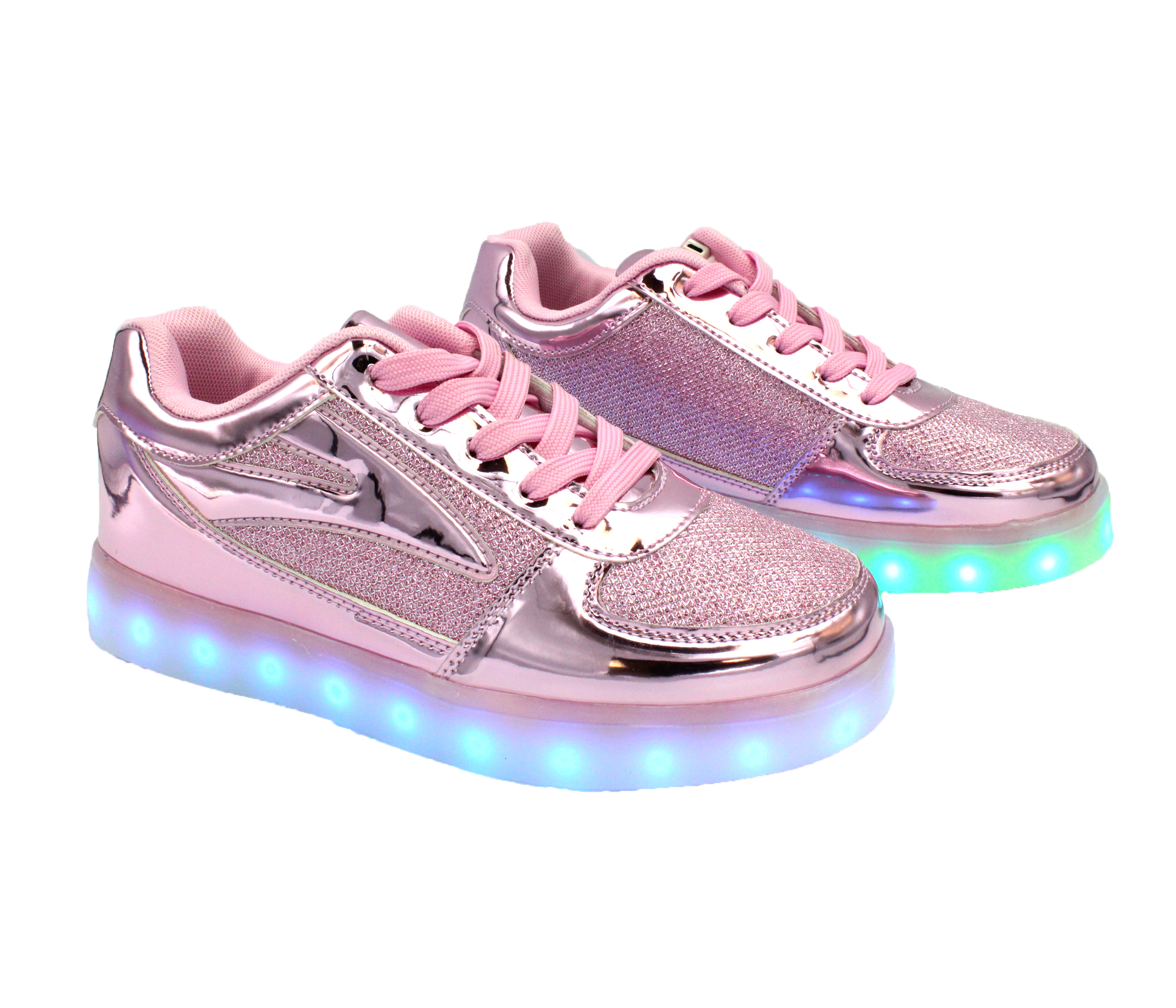 Galaxy LED Shoes Light Up USB Charging Low Top Women s Sneakers (Pink  Glossy Fusion) db557447a