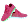Galaxy LED Shoes Light Up USB Charging Low Top Knit Women Sneakers (Pink) 3