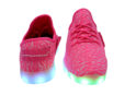 Galaxy LED Shoes Light Up USB Charging Low Top Knit Women Sneakers (Pink) 4