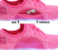 Galaxy LED Shoes Light Up USB Charging Low Top Knit Women Sneakers (Pink) 6