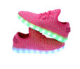 Galaxy LED Shoes Light Up USB Charging Low Top Knit Women Sneakers (Pink) 5